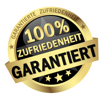 colored isolated button 100% ZUFRIEDENHEIT GARANTIERT